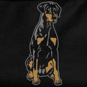 Dobermann Pinscher Black Sit T-Shirts - Kids' Backpack