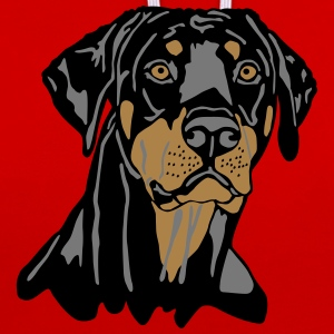 Dobermann Pinscher Black Head Tee shirts - Sweat-shirt contraste