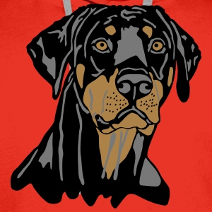 Dobermann Pinscher Black Head T-Shirts - Men's Premium Hoodie