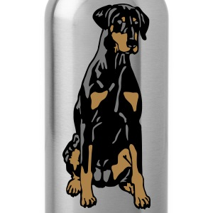 Dobermann Pinscher Black Sit T-shirts - Vattenflaska