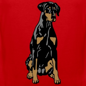 Dobermann Pinscher Black Sit T-Shirts - Men's Premium Tank Top