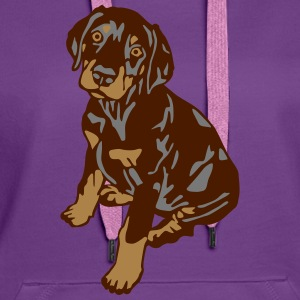 Dobermann Pinscher Brown Sitting Puppy T-shirts - Premiumluvtröja dam
