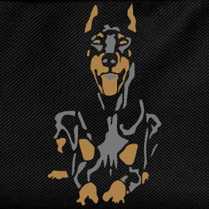 Dobermann Pinscher Black Down Standing Ears T-Shirts - Kinder Rucksack