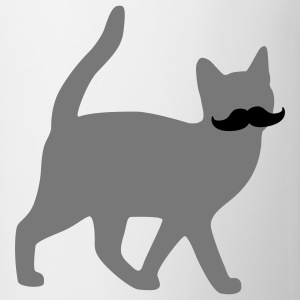 moustache cat snor kat T-shirts - Mok