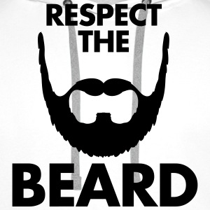 Respect The Beard Tee shirts - Sweat-shirt à capuche Premium pour hommes