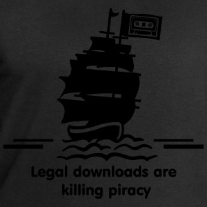 piraten - legal download are killing pirates T-Shirts - Männer Sweatshirt von Stanley & Stella