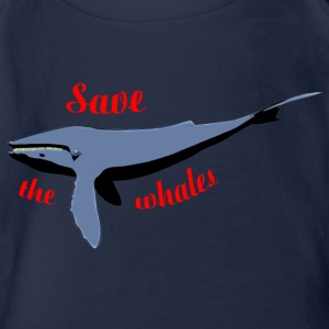 save the whales T-shirts - Ekologisk kortärmad babybody