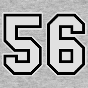 number 56 grey hoodie - Men's Slim Fit T-Shirt