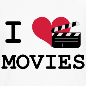 I Love Movies T-skjorter - Premium langermet T-skjorte for menn