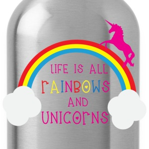 Rainbows & Unicorns T-Shirts - Water Bottle
