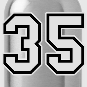 35 grey hoodie men - Water Bottle