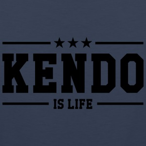 Kendo is life ! Skjorter - Premium singlet for menn