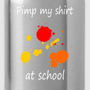 Pimp my shirt at school T-Shirts - Water Bottle