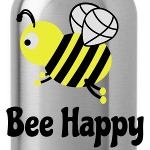 bee happy cute bee linda feliz beebee Camisetas - Cantimplora