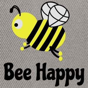 bee happy cute bee abeille mignon heureux d'abeille Tee shirts - Casquette snapback