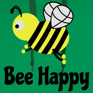 bee happy cute bee bee lykkelig søte bee T-skjorter - Premium hettegenser for menn