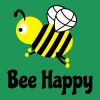 bee happy cute bee bee glad söt bee T-shirts - Premium-T-shirt herr