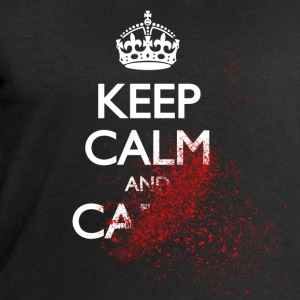 keep calm and carry on blood spatter zombie T-Shirts - Men's Sweatshirt by Stanley & Stella