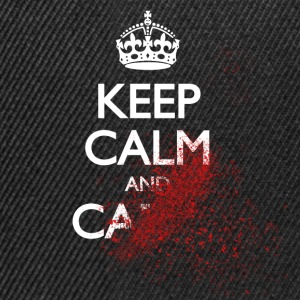 keep calm and carry on blood spatter zombie kalmte bewaren en bloed spat zombie voort T-shirts - Snapback cap