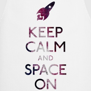 Keep Calm and Space on holde ro og plads T-shirts - Forklæde
