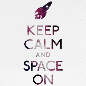 Keep Calm and Space on holde ro og plads T-shirts - Baseballkasket