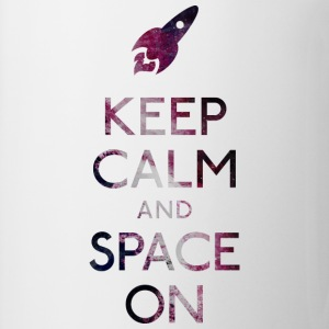 Keep Calm and Space on holde ro og plads T-shirts - Kop/krus