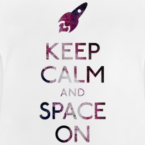 Keep Calm and Space on holde ro og rom på Skjorter - Baby-T-skjorte