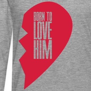 Born to love him - right heart side Pullover & Hoodies - Männer Premium Langarmshirt