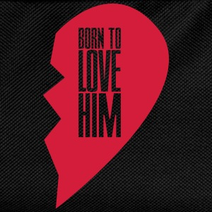 Born to love him - right heart side Pullover & Hoodies - Kinder Rucksack