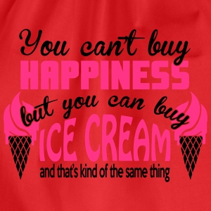 You can't buy happiness, but you can buy ice cream T-Shirts - Drawstring Bag