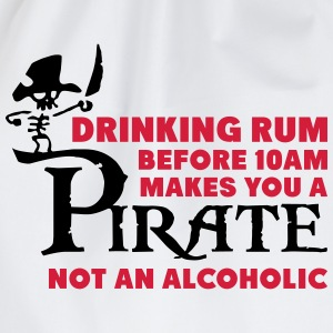 Drinking rum before 10am like a pirate T-shirts - Gymtas