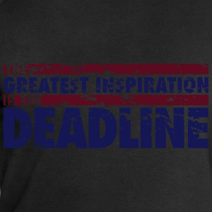 The greatest inspiration is the deadline T-Shirts - Men's Sweatshirt by Stanley & Stella