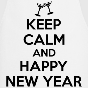 Keep calm and happy new year T-Shirts - Kochschürze
