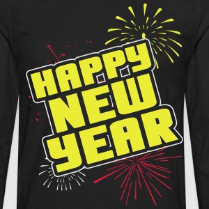 Happy new year T-Shirts - Männer Premium Langarmshirt