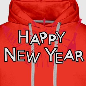 Happy new year T-Shirts - Männer Premium Hoodie