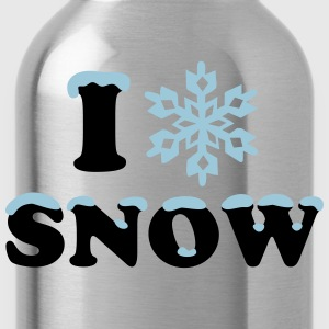 Winter, Snow, Snowflake, Snow, Sports T-Shirts - Water Bottle