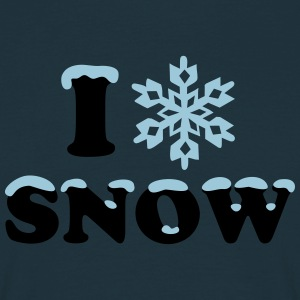 Winter, Snow, Snowflake, Snow, Sports Hoodies & Sweatshirts - Men's T-Shirt