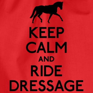 Keep Calm and Ride Dressage T-Shirts - Turnbeutel