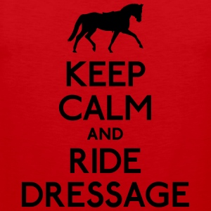 Keep Calm and Ride Dressage T-Shirts - Men's Premium Tank Top