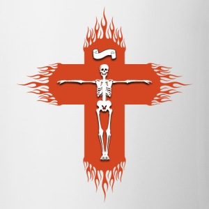 Christian cross flaming Sweat-shirts - Tasse
