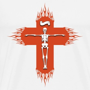 Christian cross flaming Hoodies & Sweatshirts - Men's Premium T-Shirt