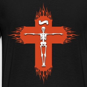Christian cross flaming Pullover & Hoodies - Männer Premium T-Shirt