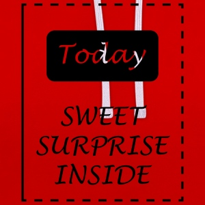 Adventskalender, Sweet surprise inside Langarmshirts - Kontrast-Hoodie