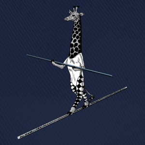 Giraffe Tightrope Walker Shirts - Baseball Cap