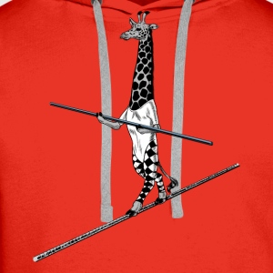 Giraffe Tightrope Walker Shirts - Men's Premium Hoodie