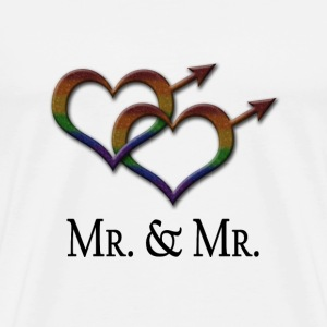 Mr. and Mr. - Gay Pride - Marriage Equality - Men's Premium T-Shirt