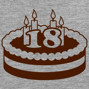 18 Happy Birthday Cake T-skjorter - Premium langermet T-skjorte for menn
