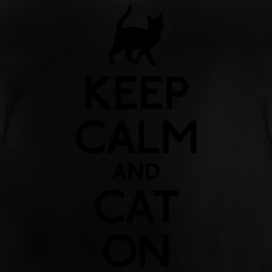keep calm and cat on holde ro og katt på Skjorter - Baby-T-skjorte
