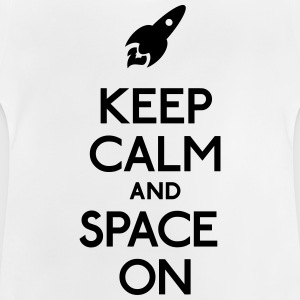 keep calm and space on hålla lugn och utrymme på T-shirts - Baby-T-shirt