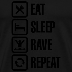 Eat sleep rave repeat Sweaters - Mannen Premium T-shirt